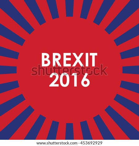abstract brexit 2016 background  - stock vector