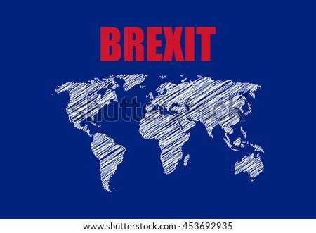 abstract brexit background  - stock vector