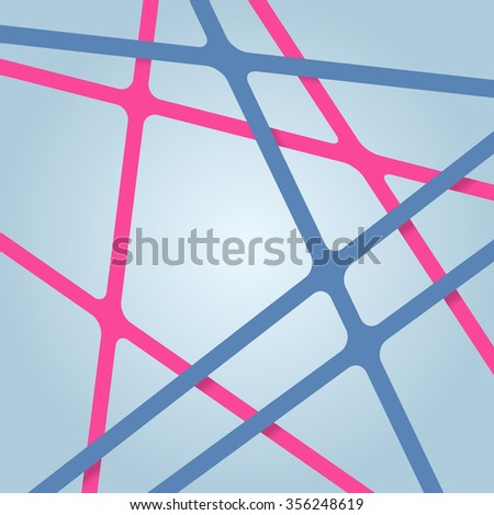 Abstract bright background. Bright lines. Overlapping bright stripes. Intersecting bright streaks. Abstract bright background for design. Bright ribbons at different levels. - stock vector