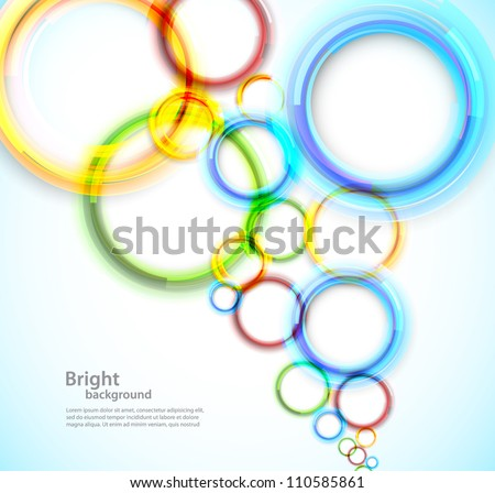 Abstract bright background with colorful circles - stock vector