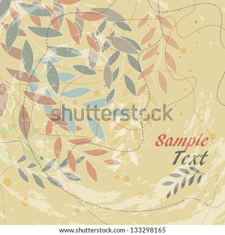 abstract bright background with flowers