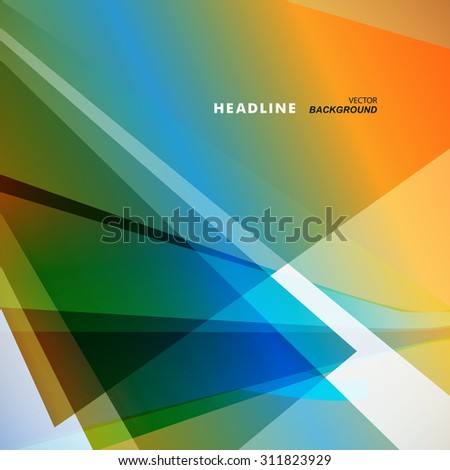 Abstract bright color on a light background. - stock vector
