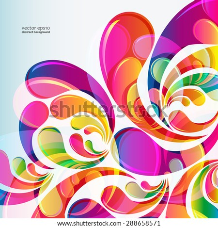 Abstract bright colorful arc-drop background. Vector. - stock vector