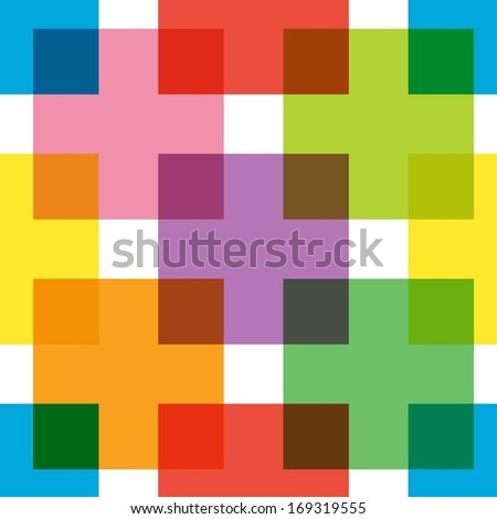 Abstract bright colorful seamless pattern.  - stock vector
