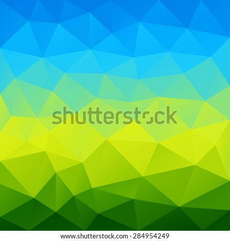 Abstract bright colorful summer polygon geometric triangle background. Vector illustration. - stock vector