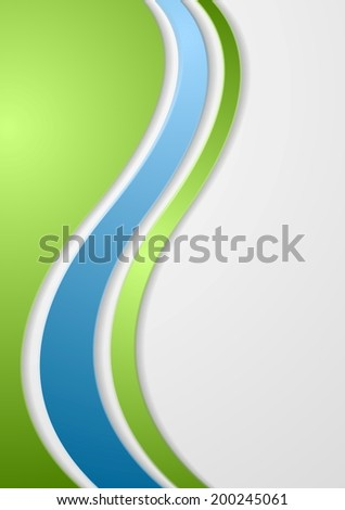Abstract bright corporate waves. Vector background - stock vector