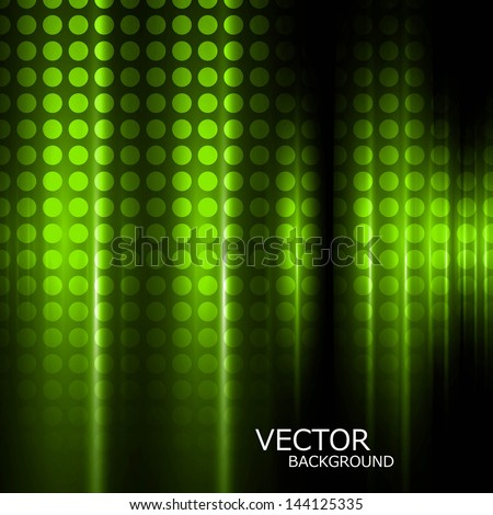 Abstract bright green colorful circle halftone texture background - stock vector
