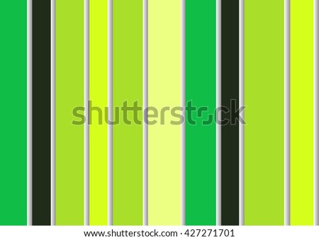 Abstract bright green modern striped wallpaper on the wall in pastel colors