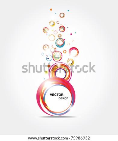 Abstract bright Illustration - stock vector