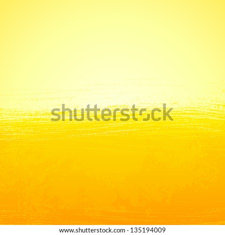 Abstract bright painted orange sunny background - stock vector