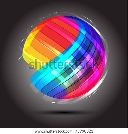 Abstract bright shiny lball - stock vector