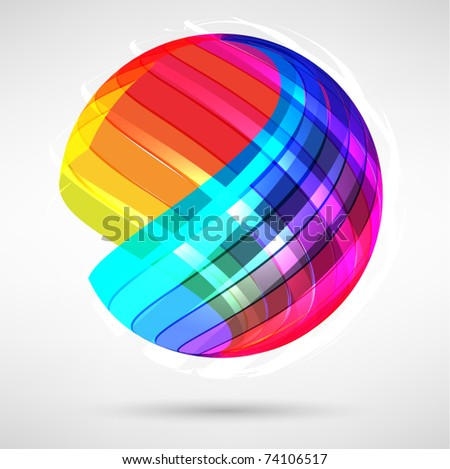 Abstract bright shiny lball - stock vector