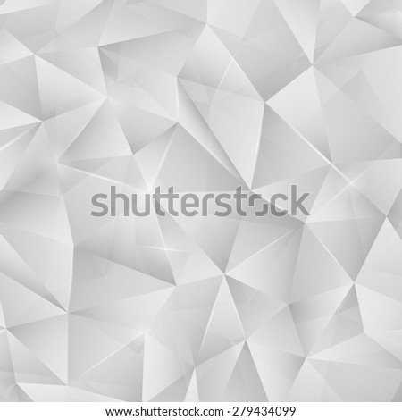 Abstract bright silver metallic pattern from triangles with lights. Vector luxury background for your design. - stock vector