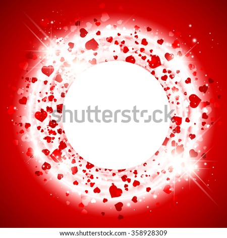 Abstract  Bright St.Valentine Day Heart  Background, Copyspace - stock vector