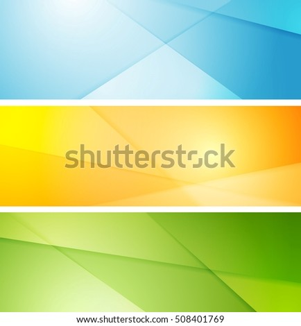 Abstract bright striped banners vector graphic design