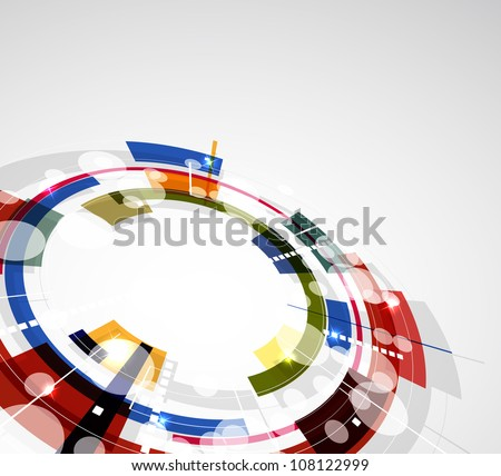 Abstract bright technology editable dynamic background - stock vector