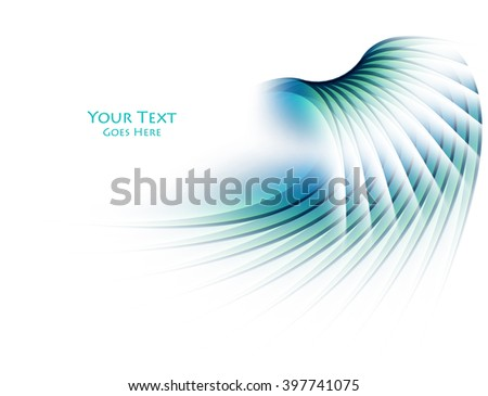 abstract bright vector background with copy space. Elements for decoration, business , brochure. Glowing lines , lights, bright curves. Business concept elements. Eps10 - stock vector