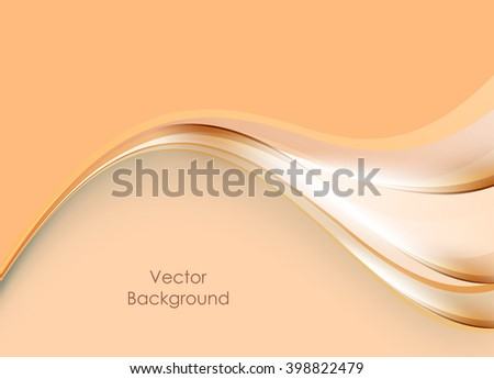 abstract bright vector background with copy space. Vector wavy lines. Shiny elements for your decoration, design, flyers, brochures. Eps10 - stock vector