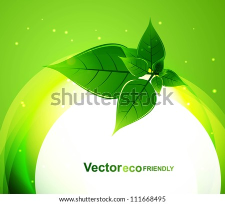 abstract bright Vector natural eco green lives circle wave background