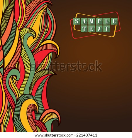 Abstract bright waves background. Vertical colorful wavy striped pattern. Cheerful bright composition for greeting card, invitation or poster. Copy space. Vector file is EPS8.