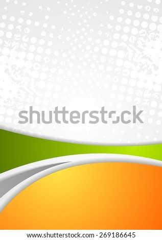 Abstract bright wavy grunge background. Vector design - stock vector