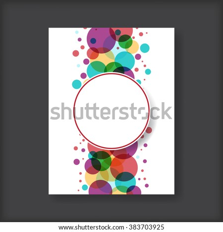 Abstract brochure - stock vector