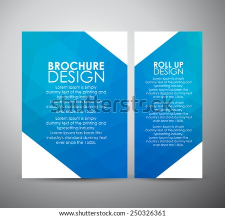 Abstract brochure business design template or roll up. Vector illustration - stock vector