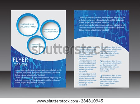 Abstract brochure design.Flyer design vector template.Magazine cover.Layout in A4 size.