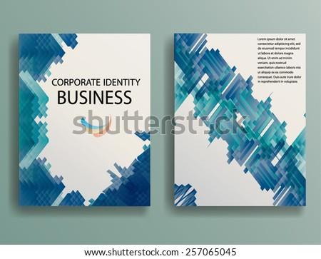 Abstract Brochure Design Template. Geometric Abstract Rhombus. Vector Illustration.  - stock vector