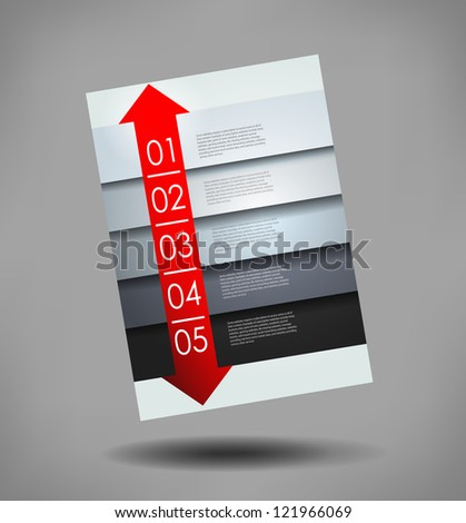 abstract brochure, number line, can be used for website, info-graphics, number banner - stock vector