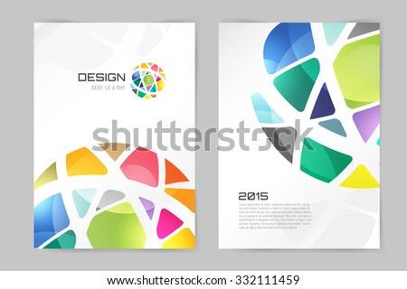Abstract brochure or flyer design template. Book design, blank, print design, journal. Brochure vector. Brochure template. Flyer design. Flyer template. Brochure abstract design. Brochure background - stock vector
