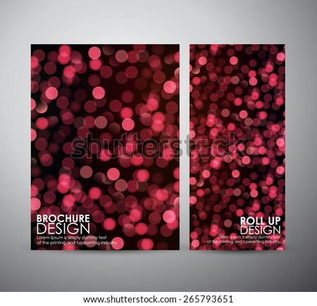 Abstract brochure red bokeh light. business design template or roll up. Vector illustration - stock vector