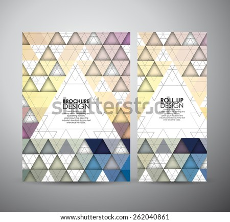 Abstract brochure Seamless triangle pattern with shadow. Geometric abstract texture. business design template or roll up. Vector illustration - stock vector