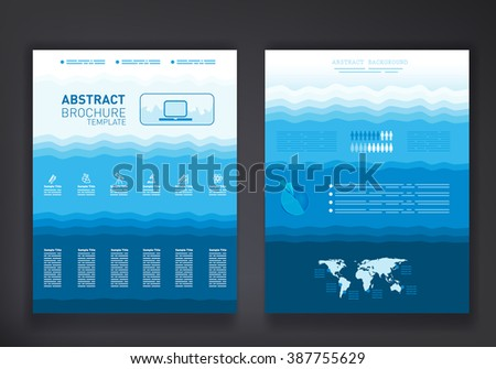 Abstract brochure template with world map, educational icons set and place for input - stock vector