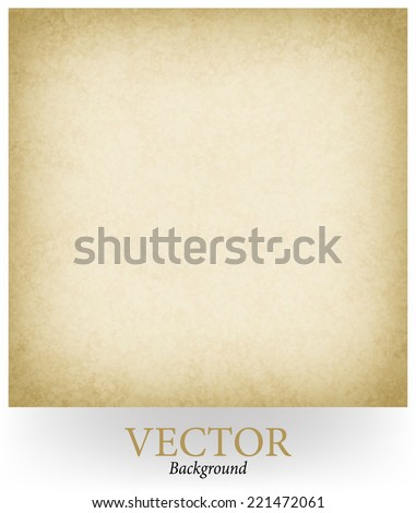 abstract brown background beige tan color vector, elegant warm background of vintage grunge background texture light center, beige brown paper style or old sepia parchment vector - stock vector