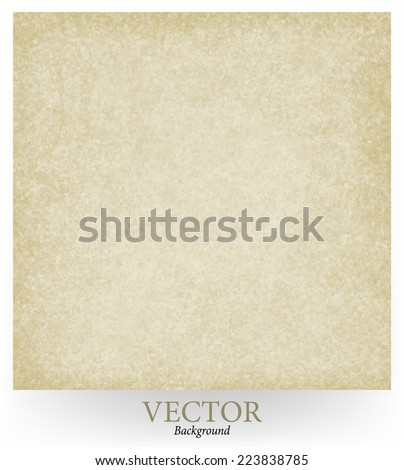 abstract brown background vector, beige tan color, plain simple background with vintage grunge background texture, light center, beige brown paper style or old sepia parchment - stock vector
