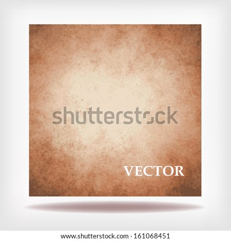 abstract brown background vector white beige cream color center, vintage grunge background texture country western or old antique style for billboard sign or brochure design grungy retro background - stock vector