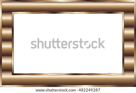 Abstract Brown Frame Metal Copper Stock Vector (2018) 482249287 ...