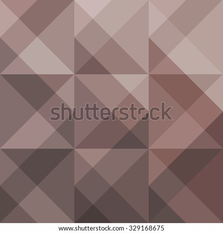 Abstract brown geometric background for design. Vector EPS10 - stock vector