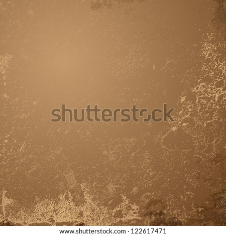 Abstract brown grunge background - Vector illustration. Aged vintage background - stock vector