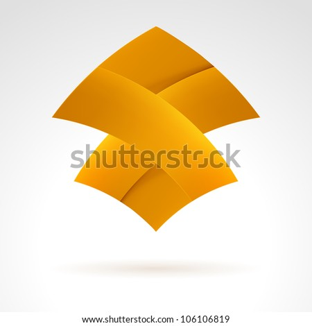 Abstract Brown Web Element. Illustration on white - stock vector