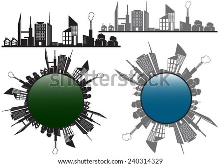 Abstract  building city town design stock vector