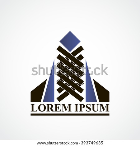 Abstract building construction logo for building company art