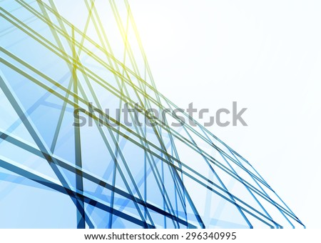Abstract building from the lines. - stock vector