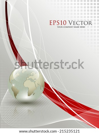 Abstract business and travel background - Vector Illustration - stock vector