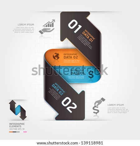 Abstract business arrow infographics template. Vector illustration. can be used for workflow layout, diagram, number options, business step options, banner, web design - stock vector