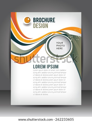 Abstract Business Background. Layer template for brochure or flyer