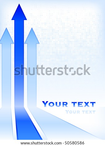 Abstract business background with arrows - stock vector