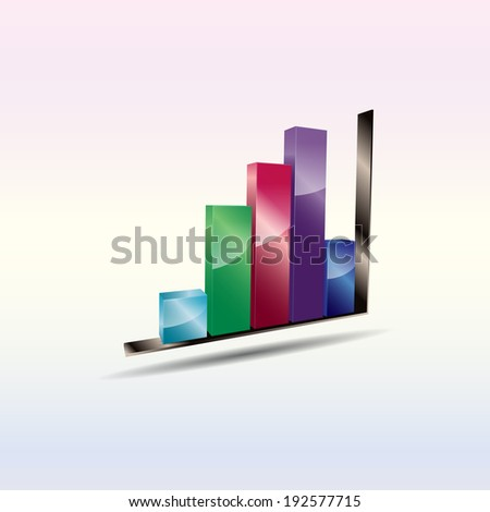 Abstract business background with bar chart.( EPS10 Vector ) - stock vector