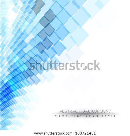 abstract business background with blue dots, minimal concept background - stock vector